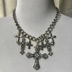 Jewelry - Bejeweled Cross Necklace